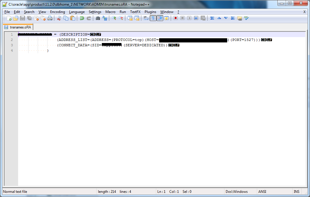 TNS Service Names not showing up in Oracle ODBC driver