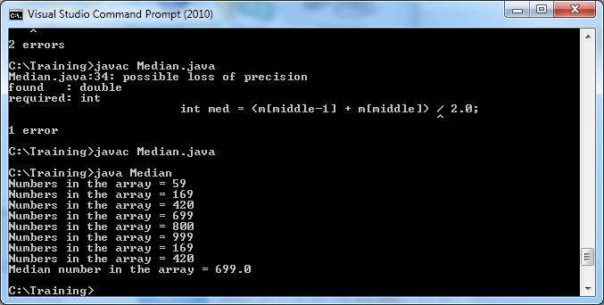 Screenshot of correct output.
