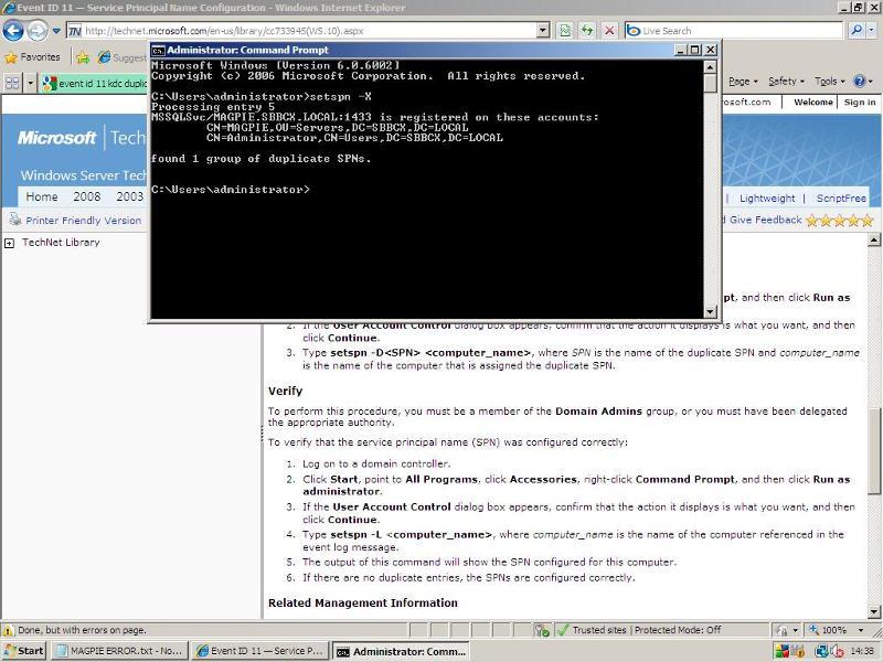 Duplicate entry screenshot