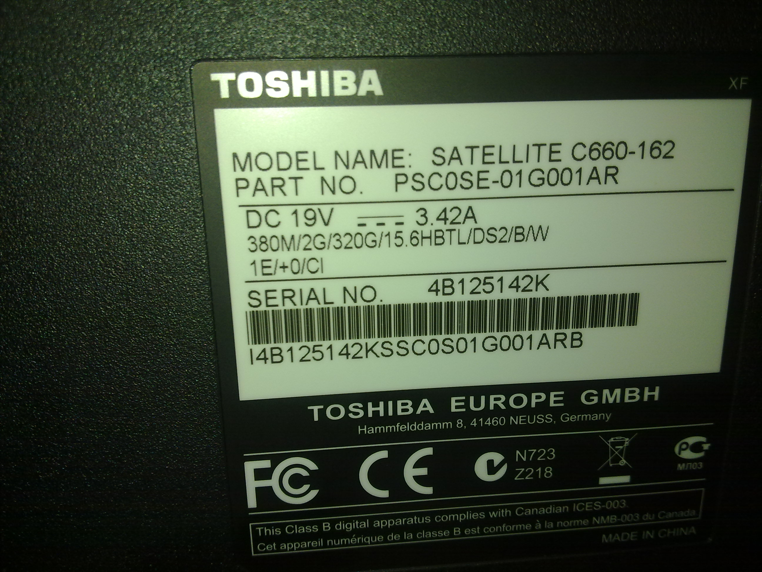 drivers toshiba satellite c660-162