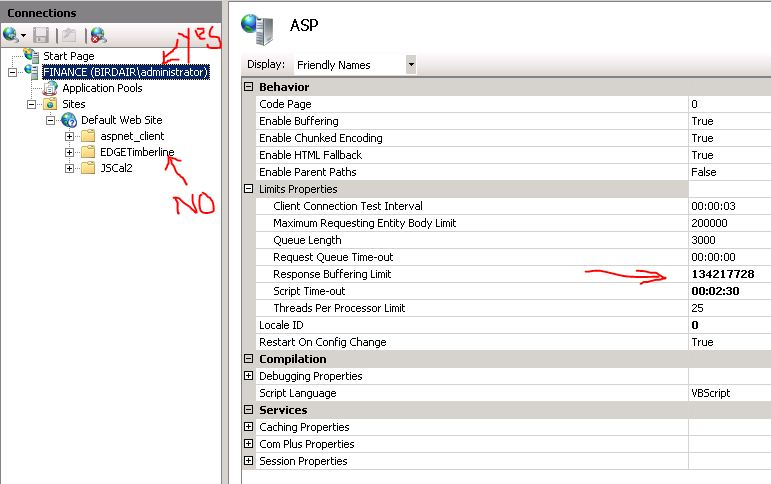 SOLUTION] IIS7 and ASP SQL query timeout
