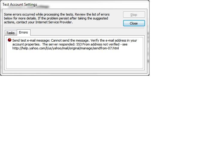 error on port 587