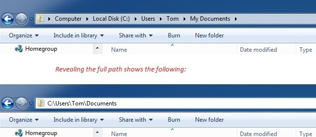 Documents Folder Path