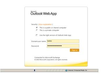OWA CAS Site B Mailbox Site B