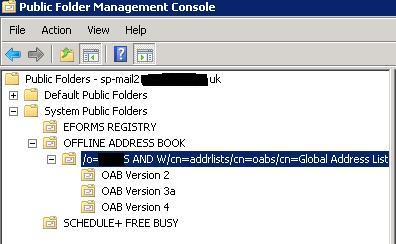 System Folder Exchange 2010 – SP-MAIL1