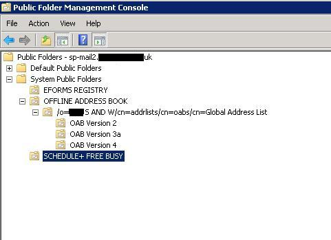System Folder Exchange 2010 – SP-MAIL2