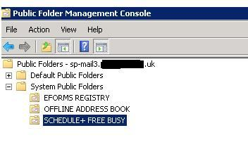 System Folder Exchange 2010 – SP-MAIL3