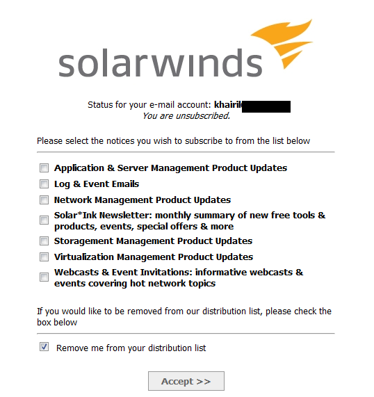 solarwind eloqua