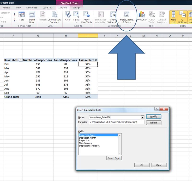 Selecting Calculated Field Menu item from PivotTools Developer Ribbon
