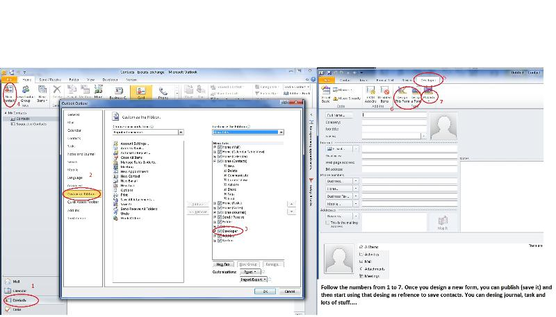 Change Outlook Contact Layout