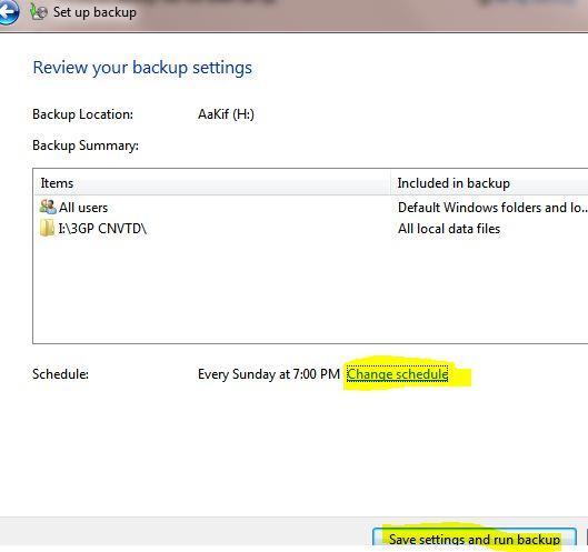 save backup settings