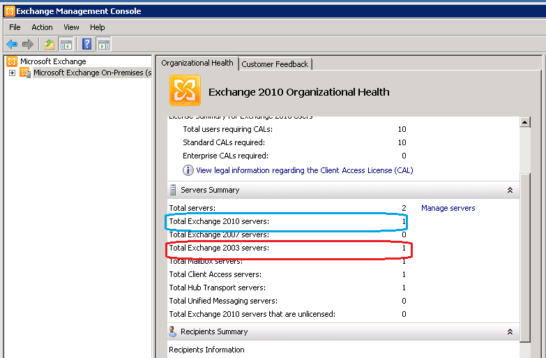 Exchange 2010 Org. Health
