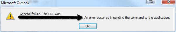 Error Message Screen Shot