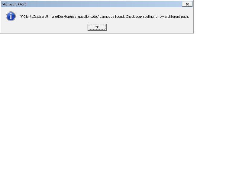 Example of the error.