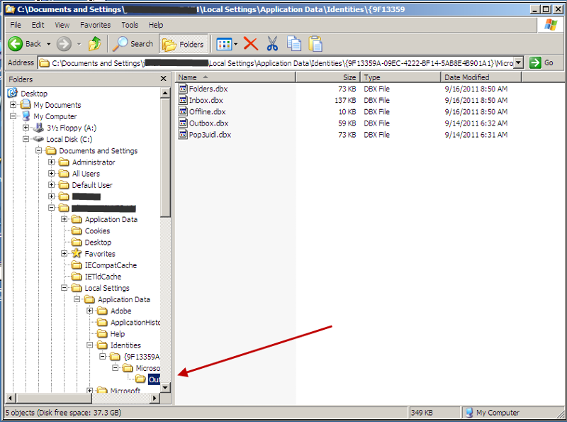 Outlook-Express-Mail.-Location.