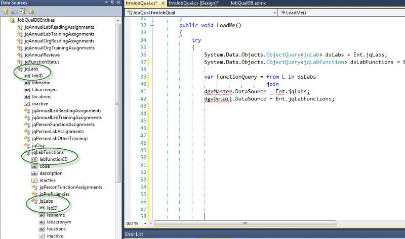 View from within Visual Studio 2010