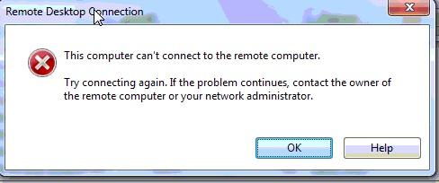 RDP error