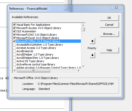 Compile Error: Can't find project or library