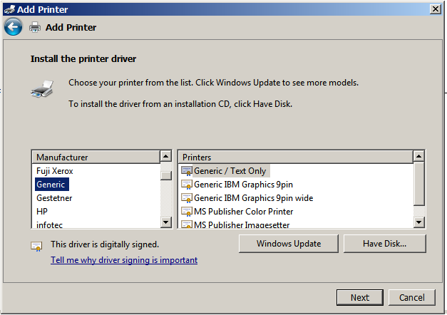 Windows-7-Generic-Text-Printer