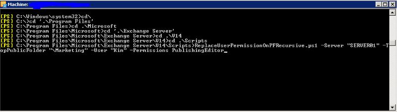 ReplaceUserPermissionOnPFRecursive.ps1 Script