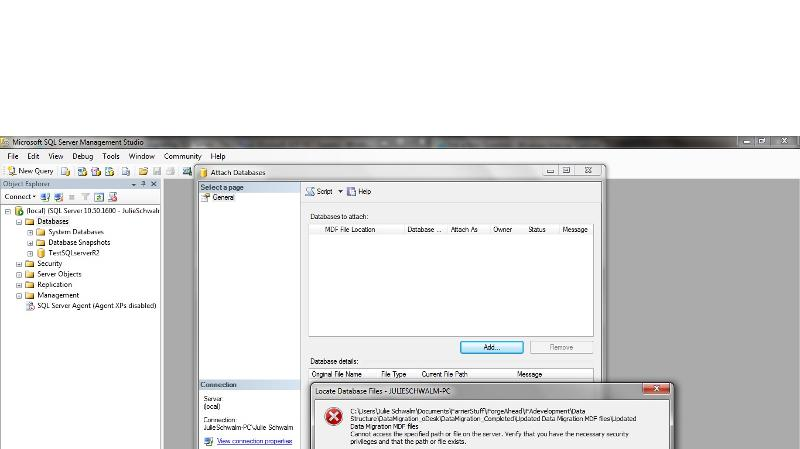 Screen Shot - SQL Mgmt Studio
