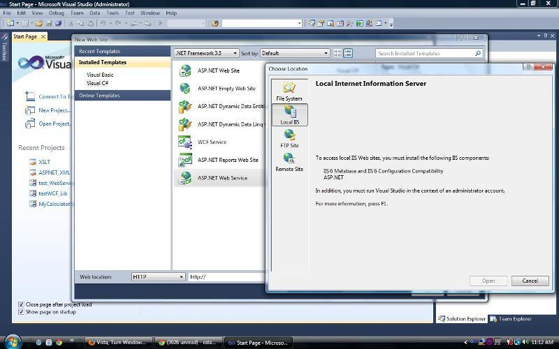 IIS error -- hosting webservice