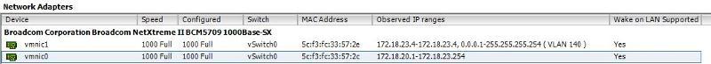 NICs on VMWare1