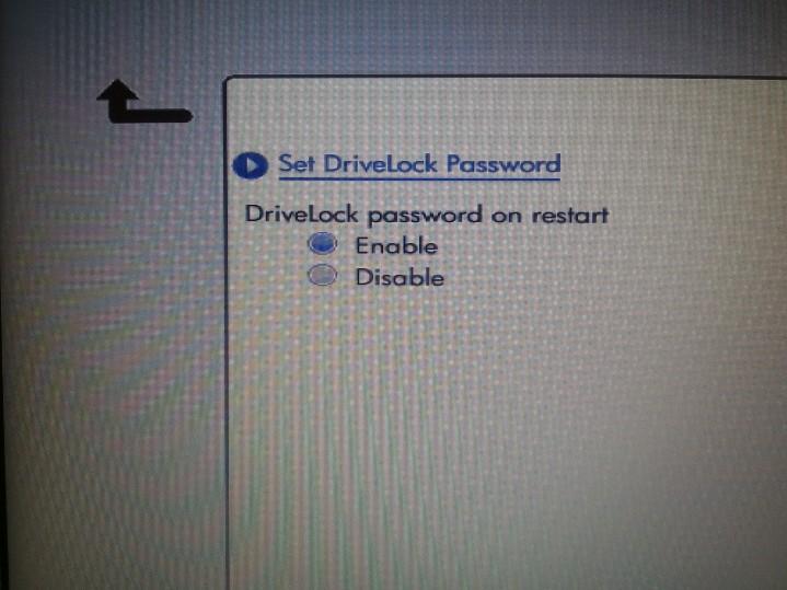 DriveLock Options