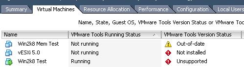 VMware Tools filter