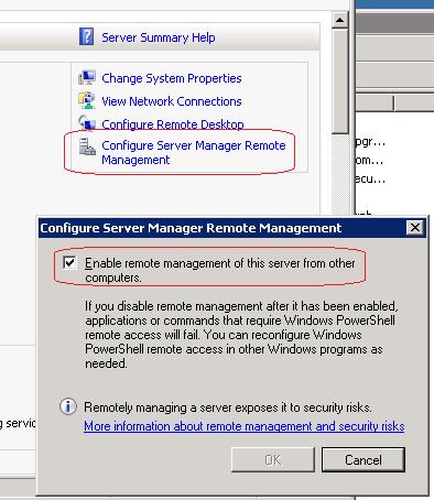 Configure Server Manager Remote