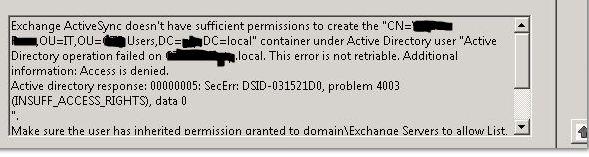 active sync error 1