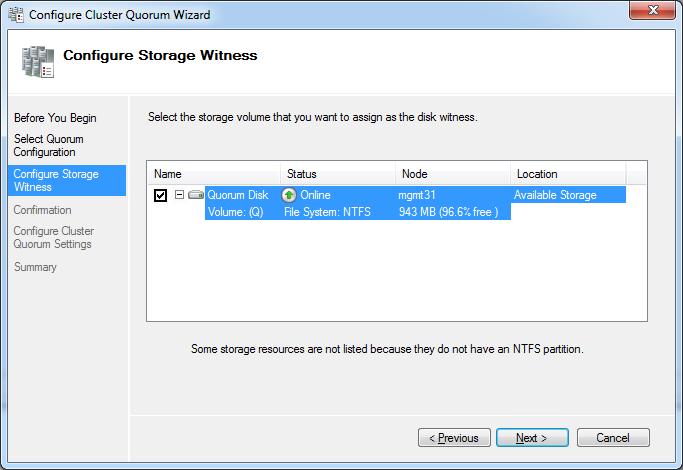 Configure Storage Witness