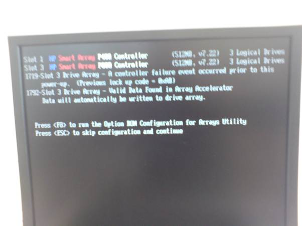 Screenshot of post-RAID halt.