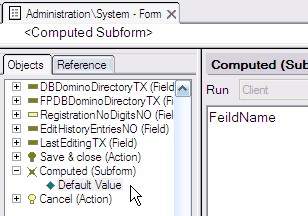 computed subform