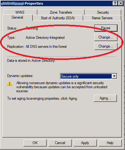 AD-integrated zone settings