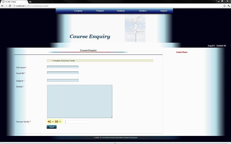 original look of a webpage