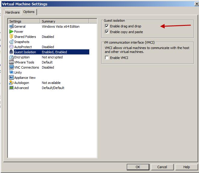 VMware-Guest-Settings