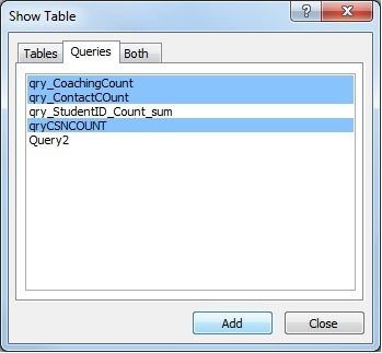 image 1, adding queries as data sources in a query