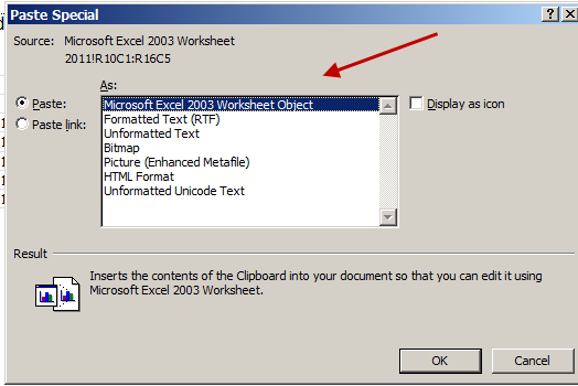 Word-2010-Paste-Spreadsheet-Object