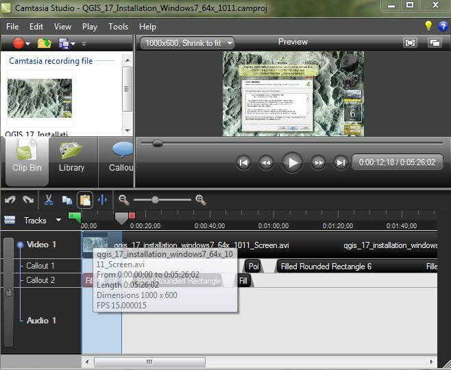 Camtasia Studio 7 in action