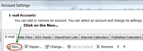 New E-mail Button