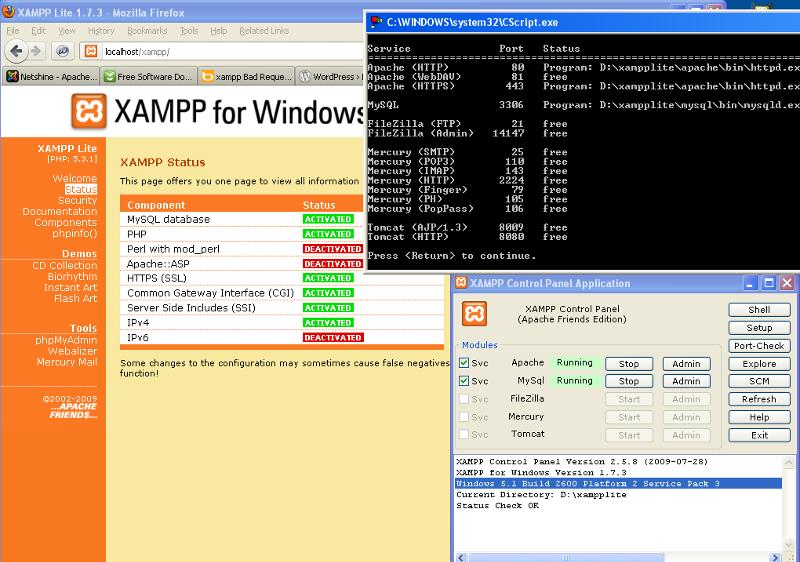 Status-Ports-Control-Panel-XAMPP