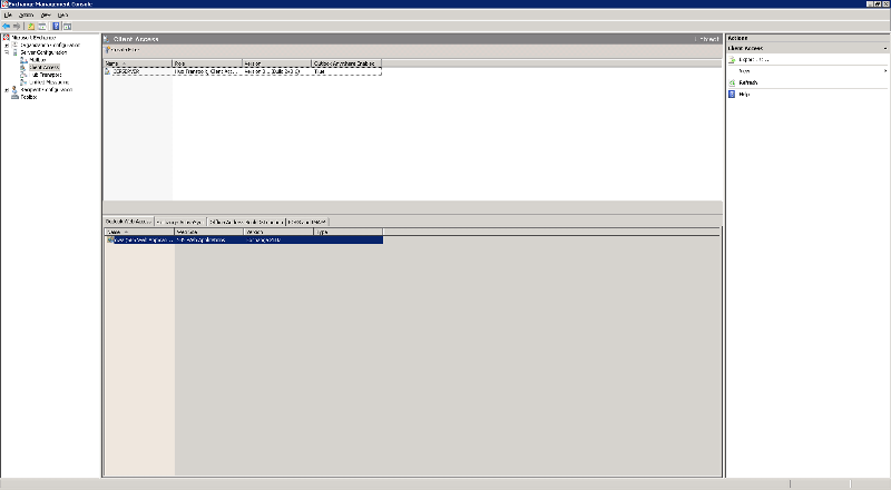 Screen shot showing outlook anywhere enabled