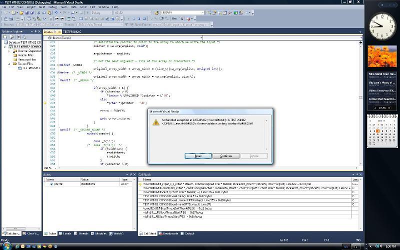 debug errors