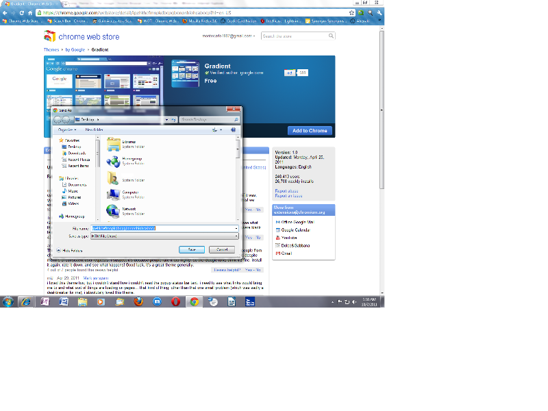 Save Link As - Chrome Web Store  - Issue - Screen Capture No. 1
