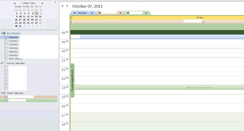 Calendar Overlay