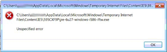 IE9 Unspecified Error