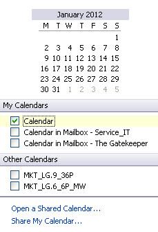 Calendar Font Size
