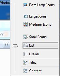 Listview from menu