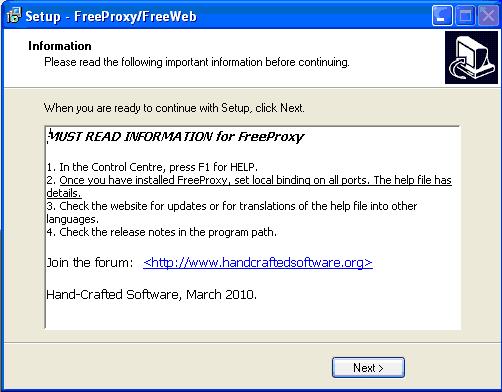 FreeProxy Setup